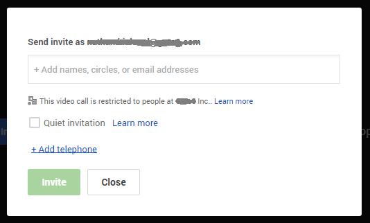 how to delete a hangouts invite