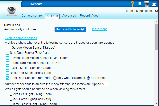z-wave webcam ispy photo settings