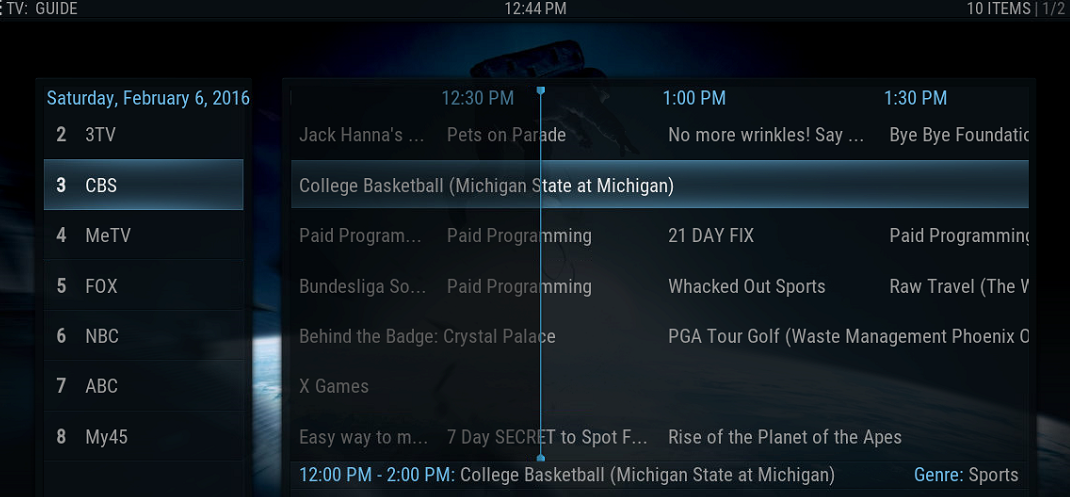 Tutorial: Kodi Live TV with EPG (TV Guide)