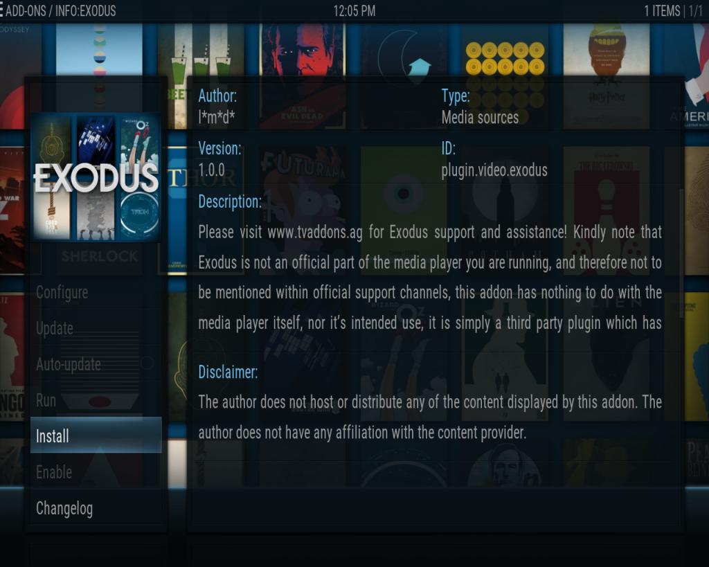 Kodi Exodus Install