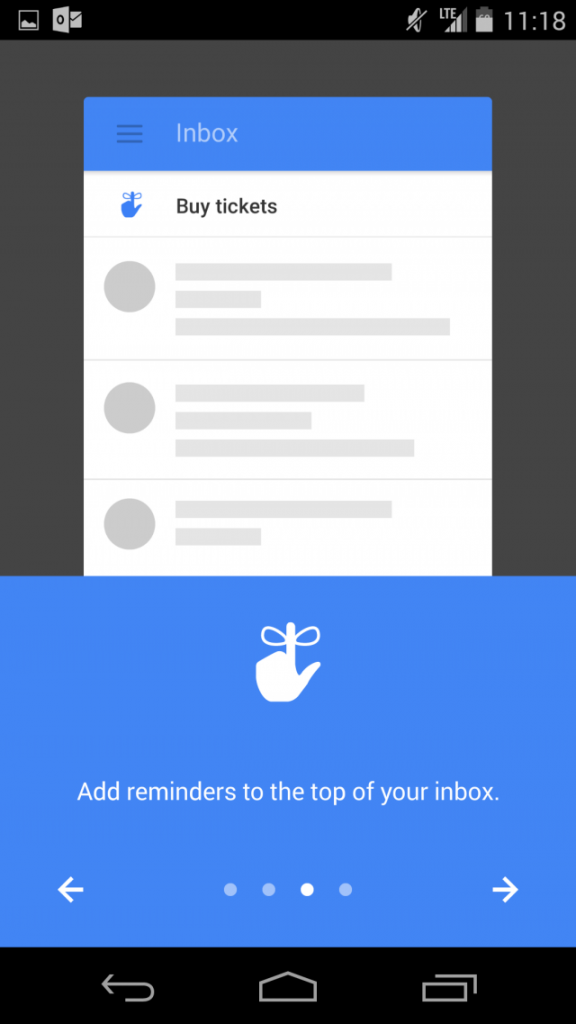 Google Inbox by Gmail Reminders to the Top