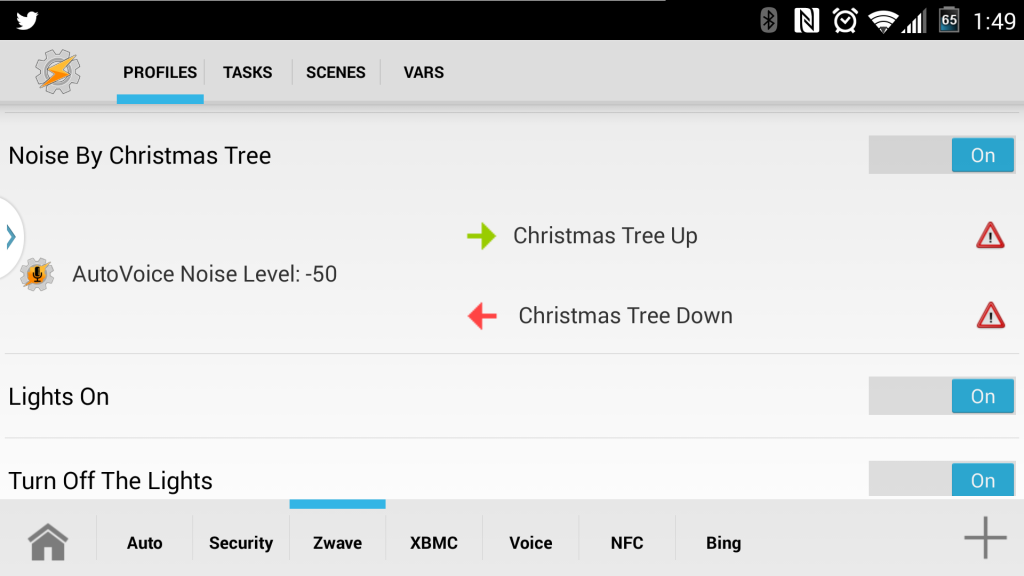 Strobe Christmas Tree Tasker AutoVera
