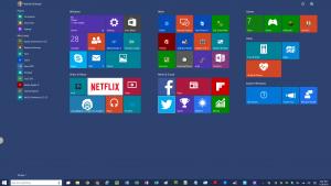 Windows 10 Start Menu Maximized