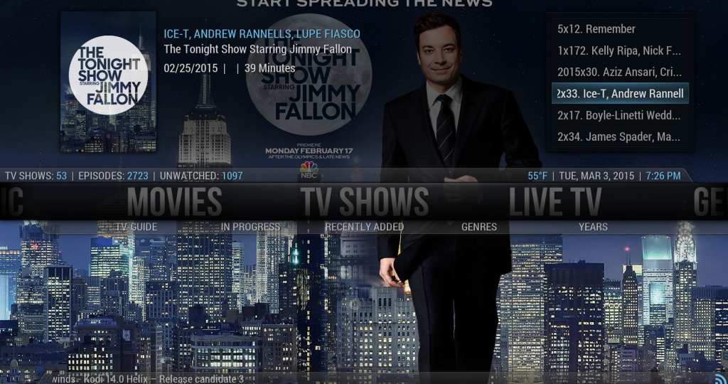 Latest Episodes from Genesis Appear on the Kodi Home Screen Widget