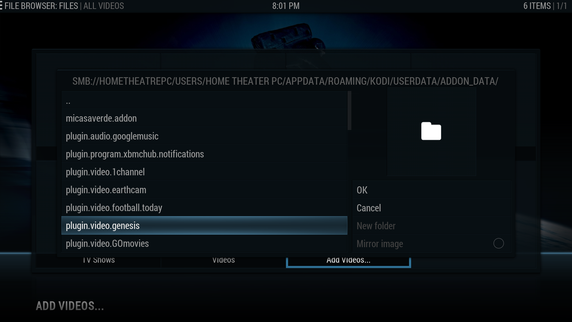 Location of Kodi (XBMC) UserData Folder