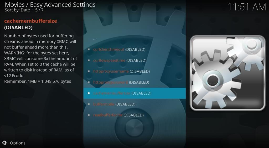 Kodi Easy Advanced Settings add-on