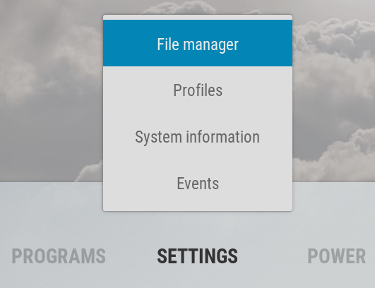 Kodi File Manager in Arctic Zephyr