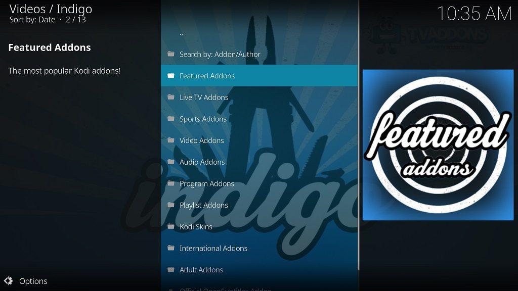 Fusion Indigo Addon Installer