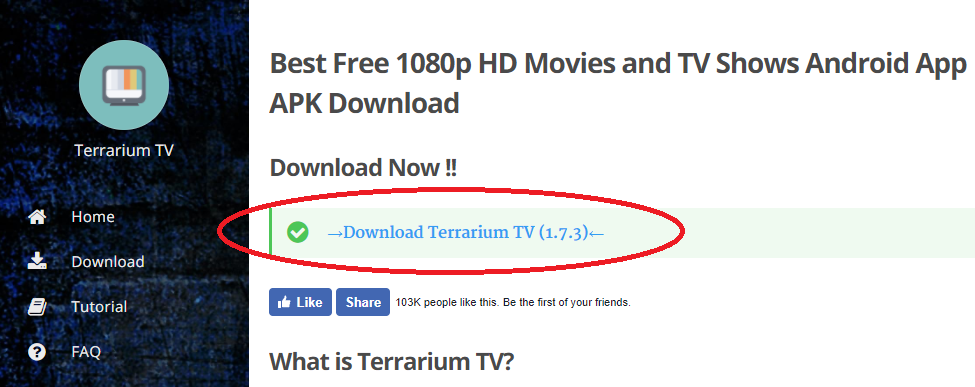 Terrarium TV Download APK