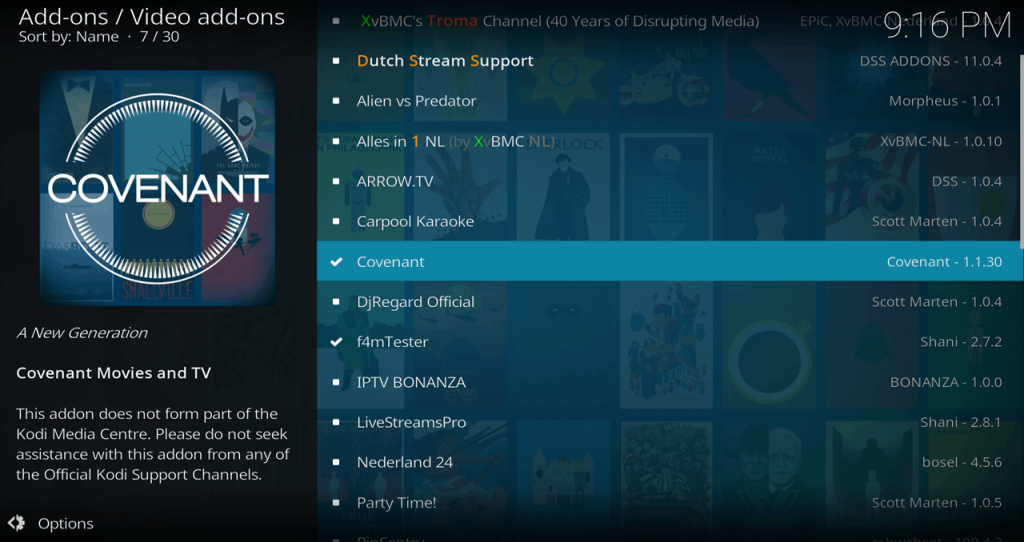 How to Install the Covenant Kodi Add-on