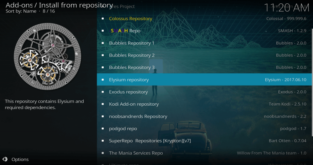 Install from Repository > Elysium Repository
