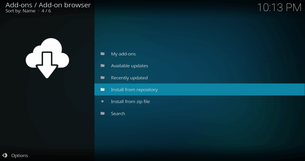 Kodi 17 Estuary Add-on Browser