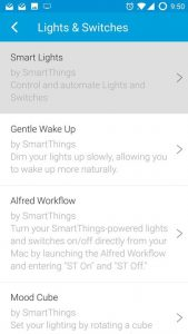 SmartThings SmartApps > Lights & Switches >Smart Lights