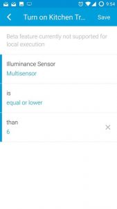 Only if illuminance is...