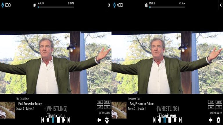 Kodi VR Steroscopic 3D Side by Side 16×9