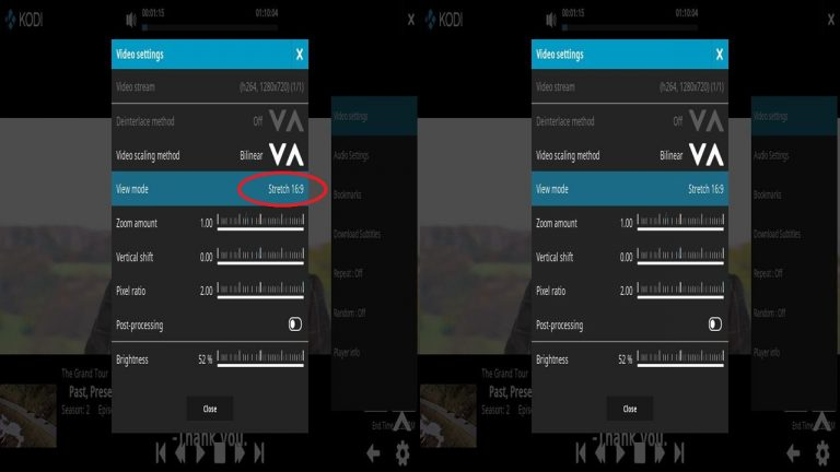 Kodi VR Steroscopic 3D View Mode 16×9