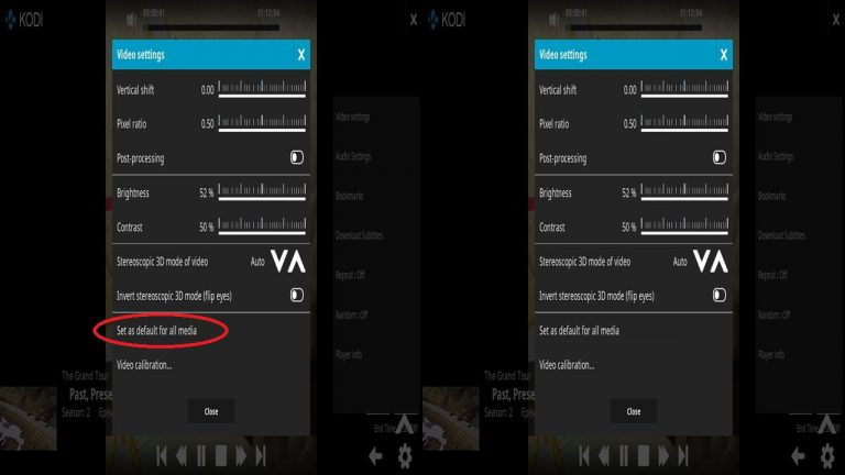 Kodi VR Steroscopic 3D View Mode – Set as default for all media