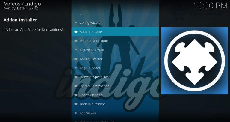 Indigo Add-on Installer