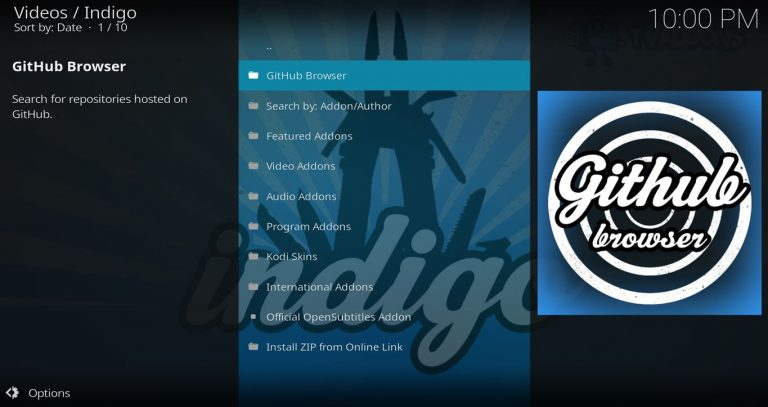 Indigo GitHub Browser