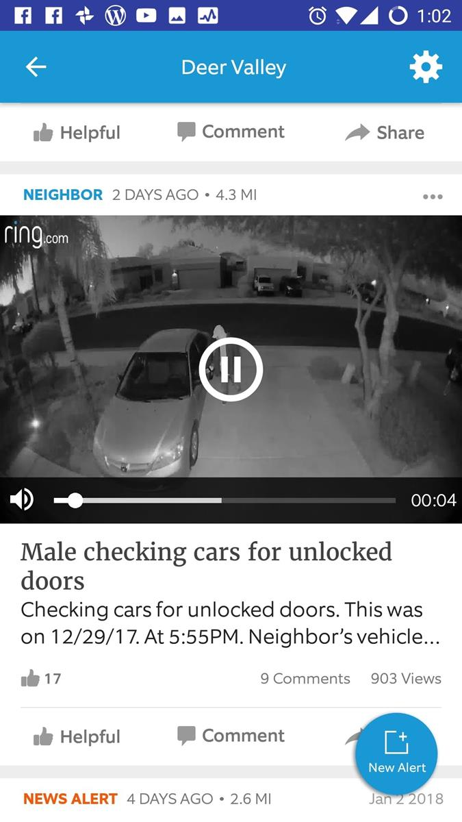 Ring Neighborhood Caught Suspicious Person on Video