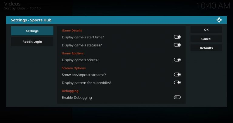 How to Install the Sports Hub Add-on for Kodi (USA Sports)