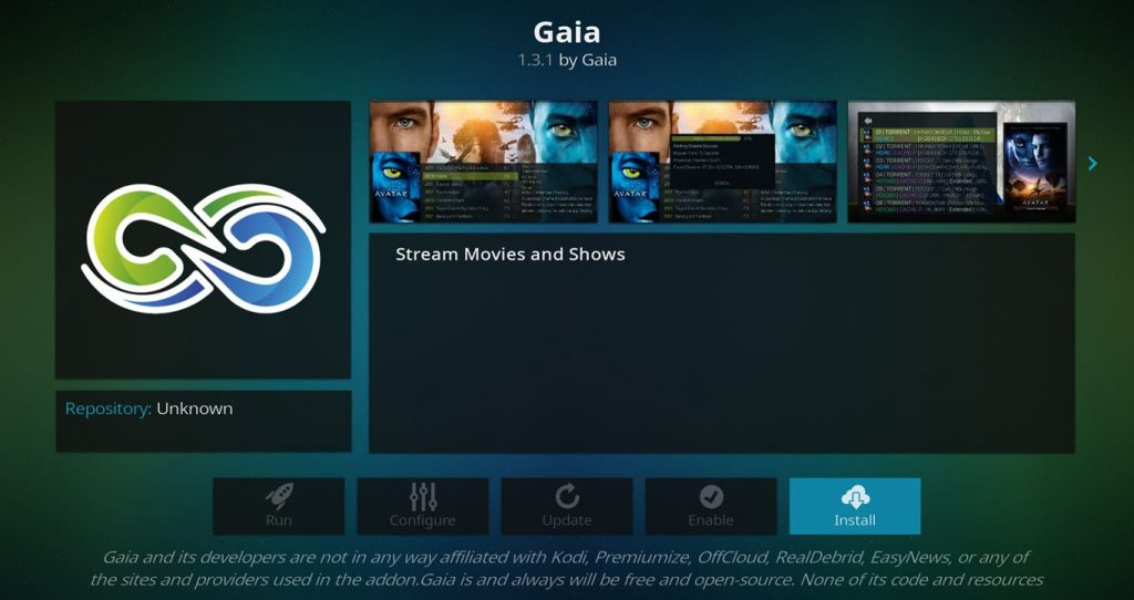 How to Install and Configure the New Gaia 5 Kodi Add-on