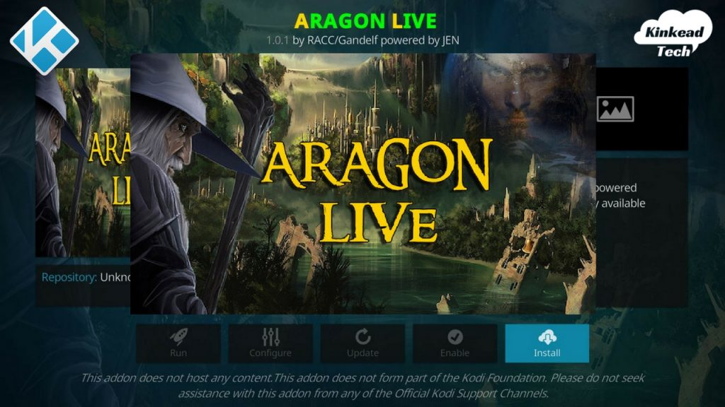 Aragon Live for Kodi