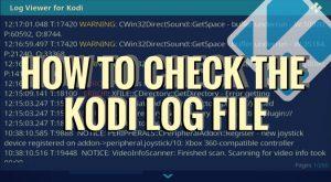 Kodi Error Log File