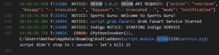 script.module.oriion lib service.py script didn't stop in 5 seconds - let's kill it