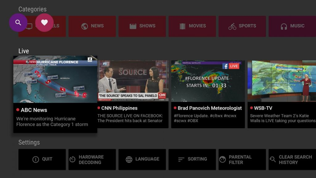 Mobdro Live TV on Fire TV
