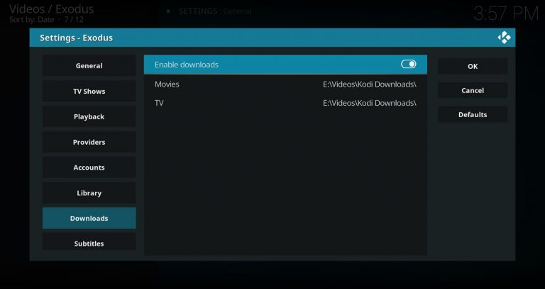 Enable Downloads In Kodi Streaming Add On