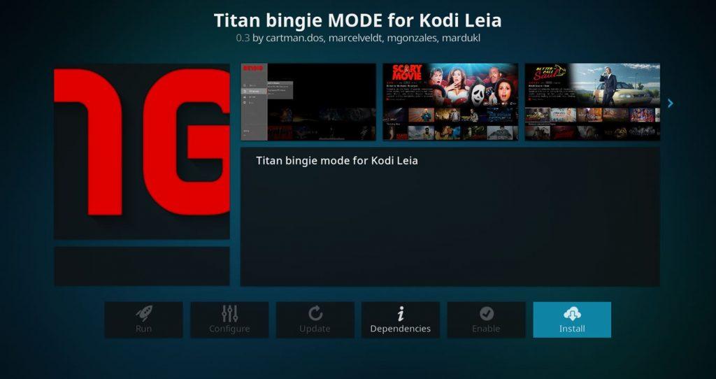 Install Titan Bingie Mode Skin