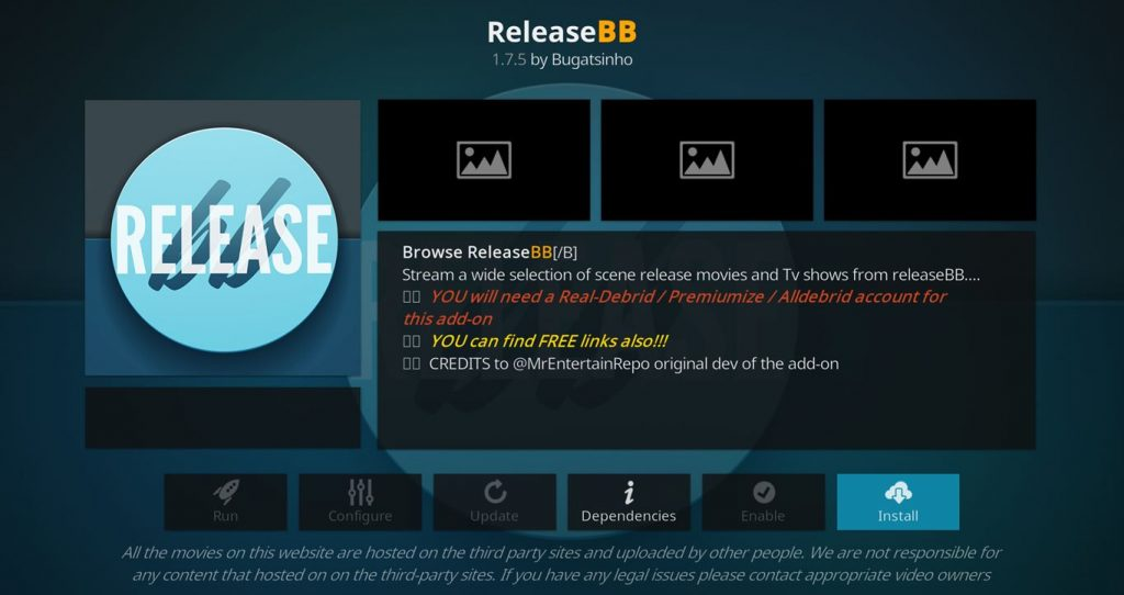 How to Install the ReleaseBB Kodi Add-on