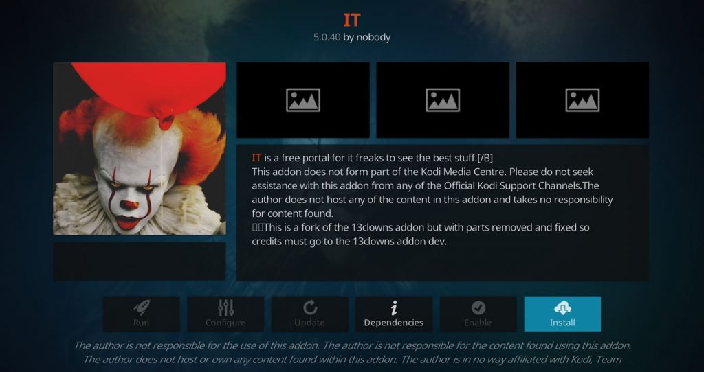How to Install the IT Kodi Add-on (a 13Clowns Fork)