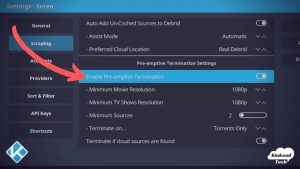 Preemptive Termination In Kodi Add Ons